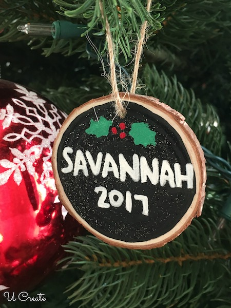 Personalized Wood Slice Ornament Tutorial