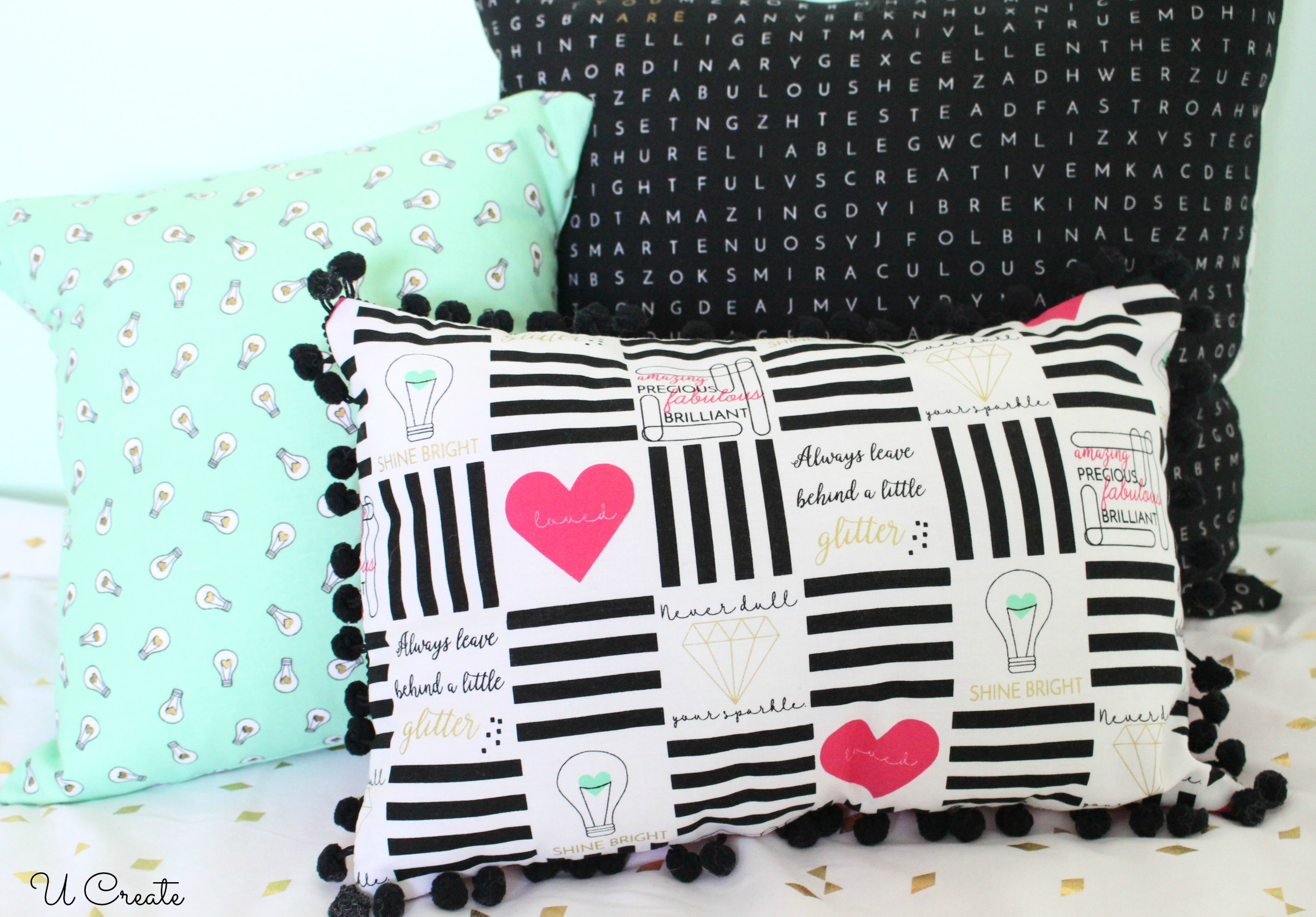 Shine Bright Fabric Pillows