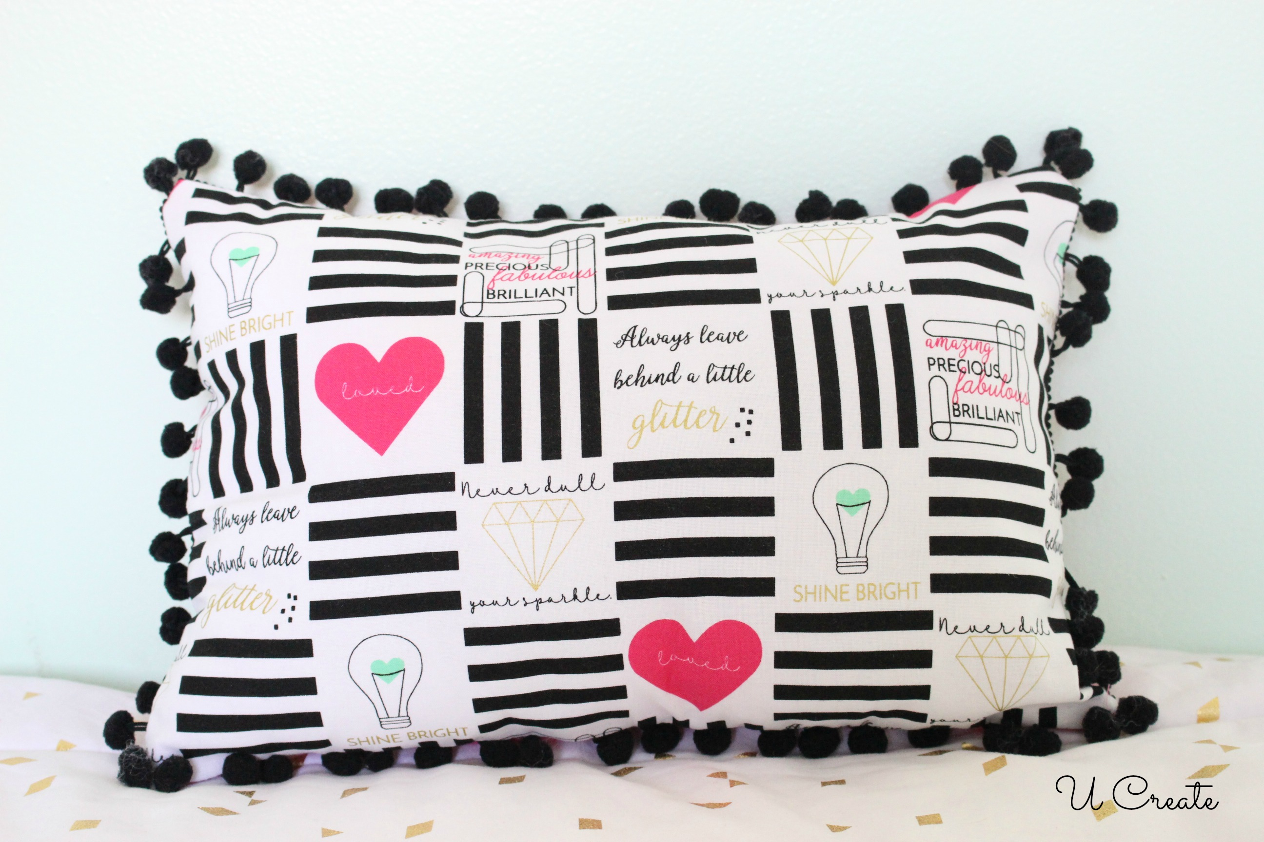 Pom Pom Pillow by U Create