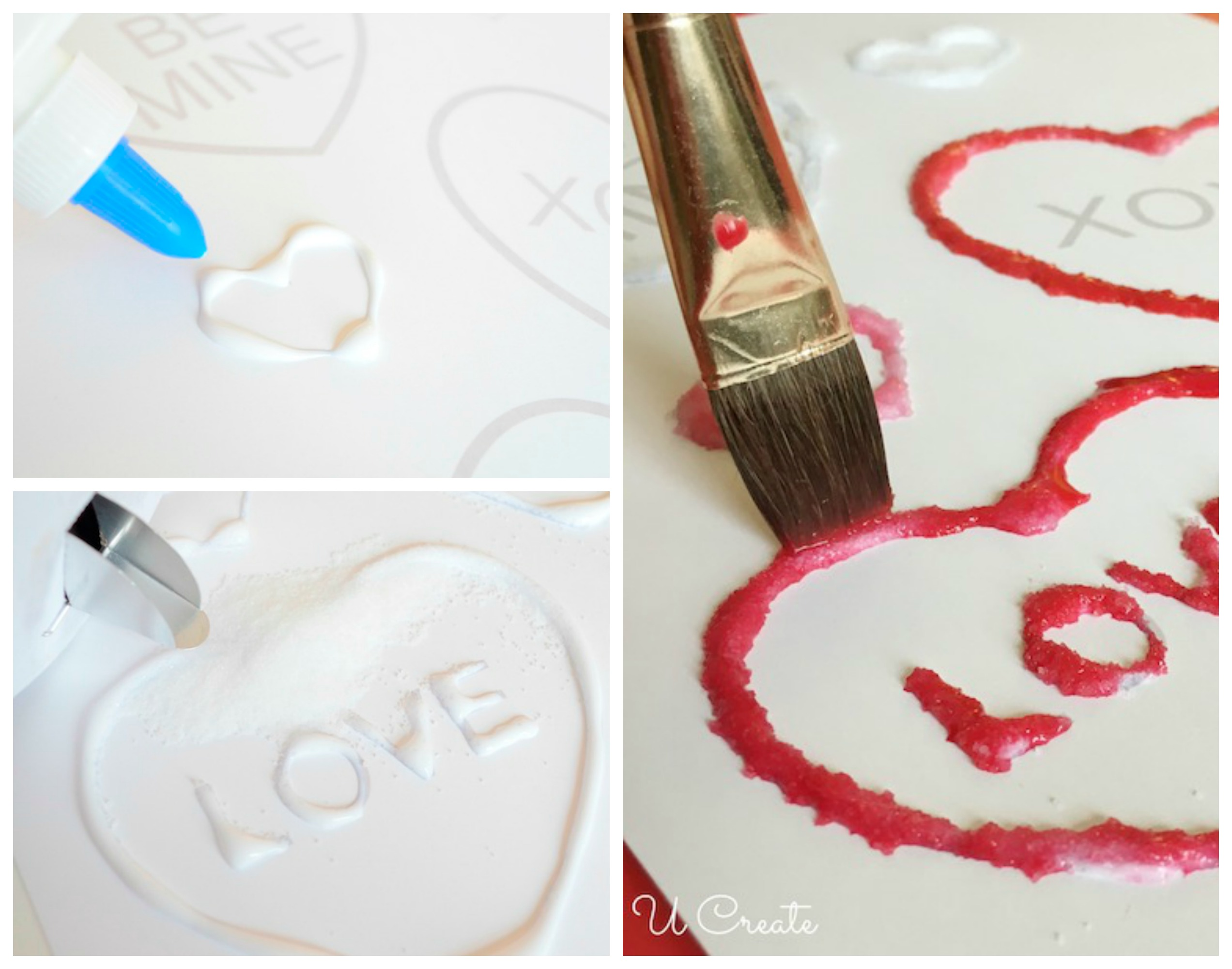 Kids Craft: Salt Painting with Valentine Printable