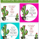 Cactus Valentine Printables by U Create