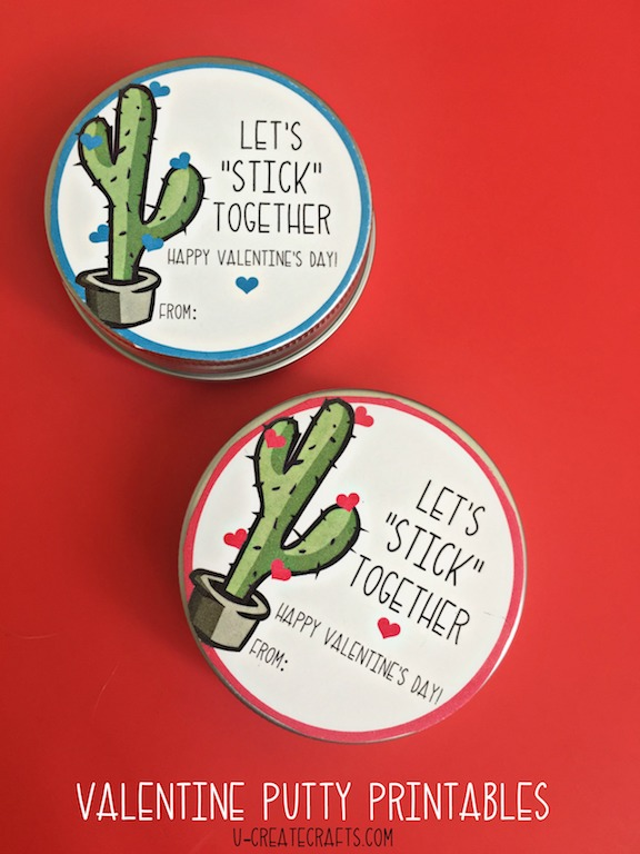 Let's Stick Together putty printables!