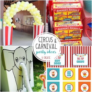 Circus/Carnival Party Ideas - great for The Greatest Showman parties, too!