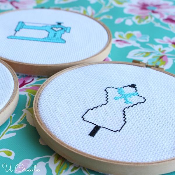 Free dress form cross stitch patterns!