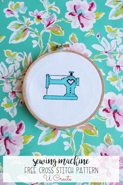 Sewing Machine free cross stitch pattern