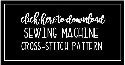 Free Sewing Machine Cross Stitch Pattern