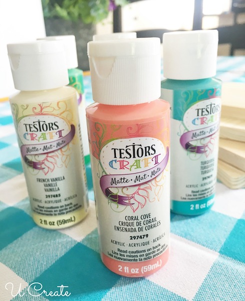 Testors Acrylic Paint - How to Make Quilted Coasters