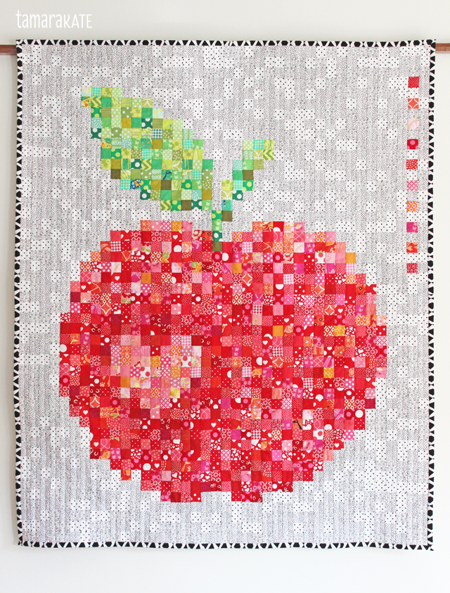 Apple Pixel Quilt - and many other amazing pixel quilts!