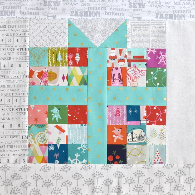 Pixel Present Quilt Block and many other pixel quilt ideas!