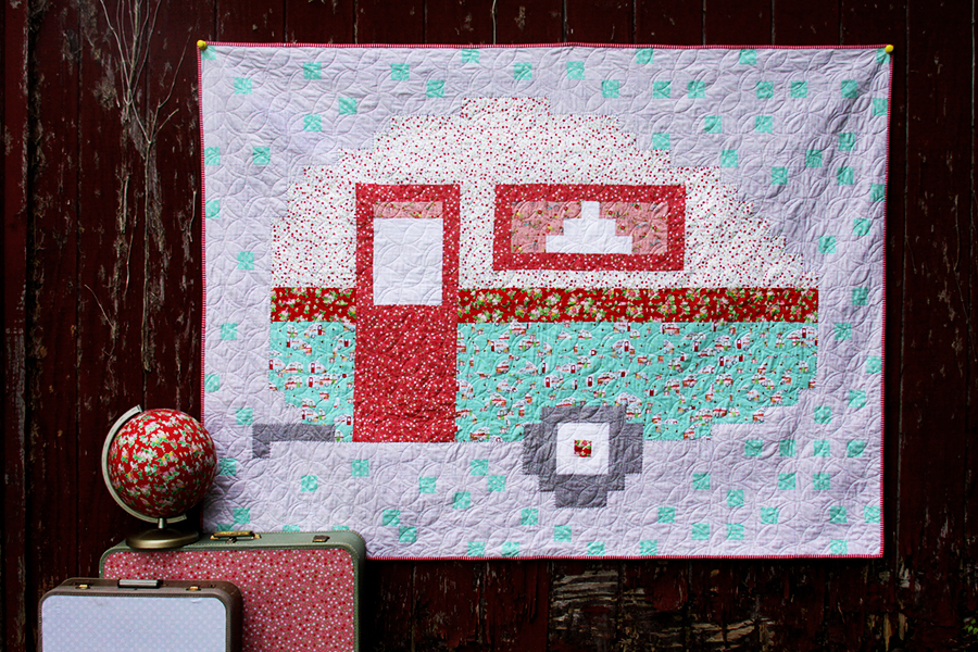 Retro Camper Pixel Quilt Tutorial - and many other pixel quilts!