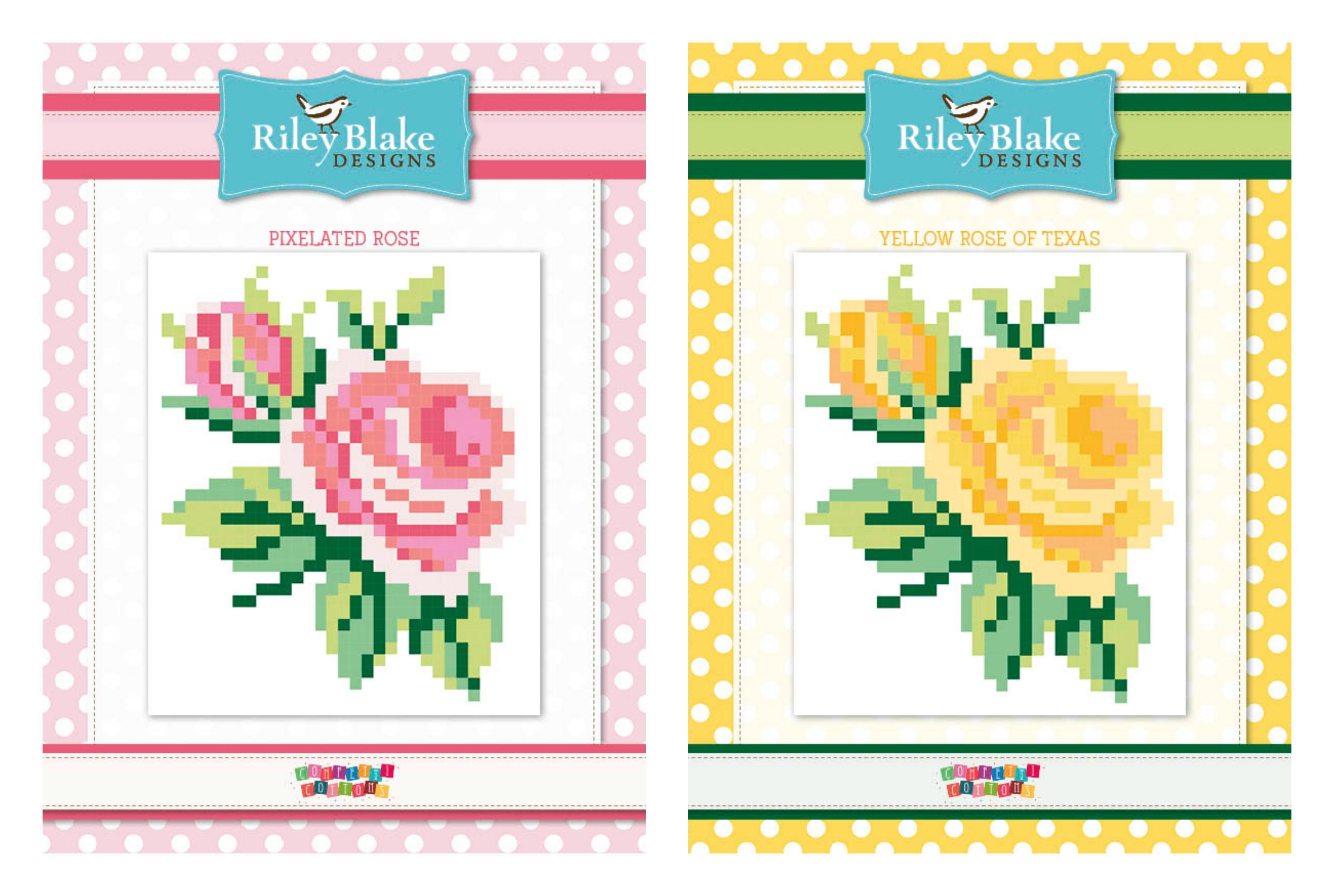 Rose Pixel Quilt Patterns by Riley Blake