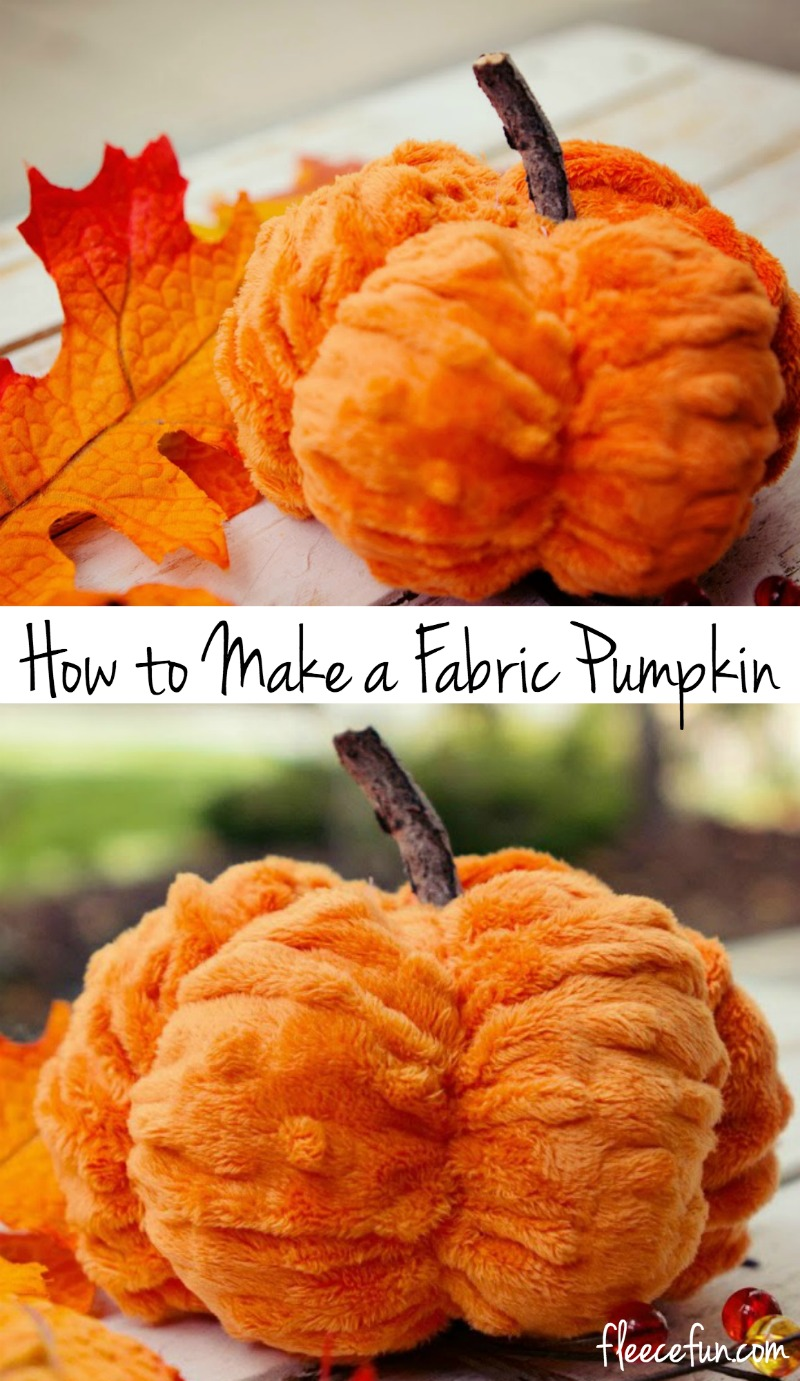 How to make a fabric pumpkin