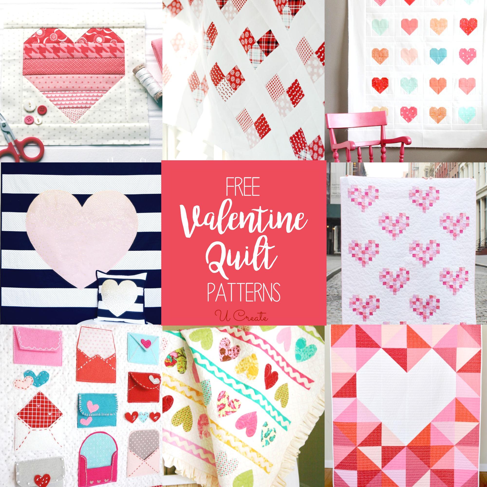 Free Valentine Quilt Patterns U Create