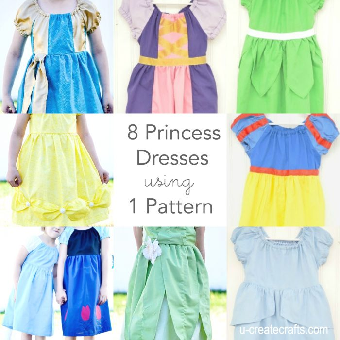 8 Princess Dresses 1 Pattern