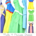 4 Princess Dresses using ONE pattern