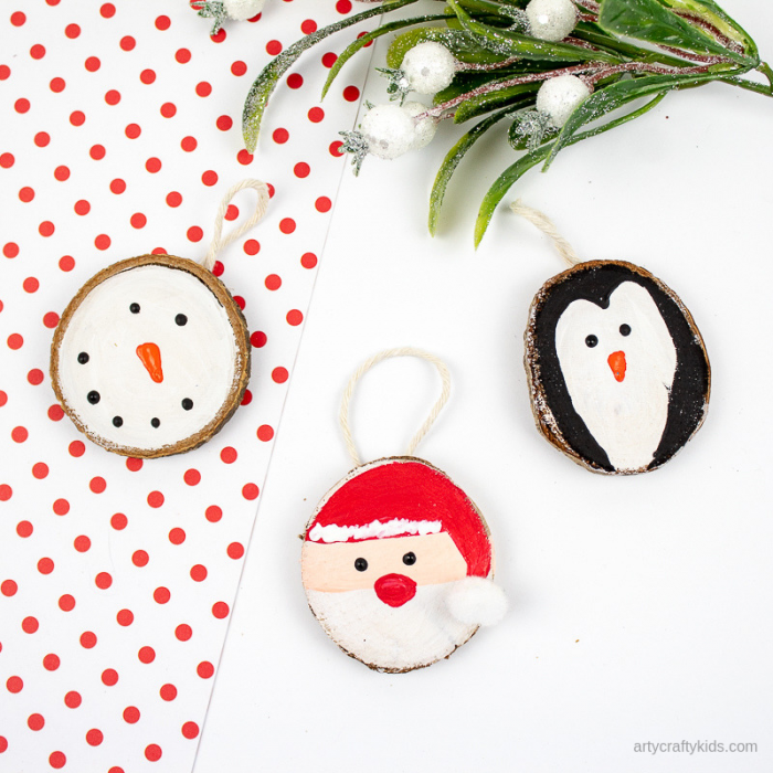 10 Wooden Slice Ornament Tutorials