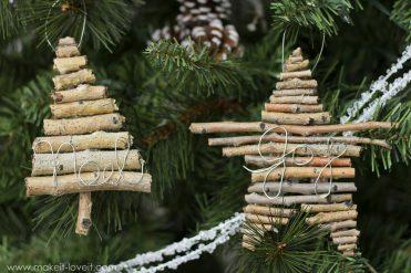 How to Make Twig Christmas Ornaments