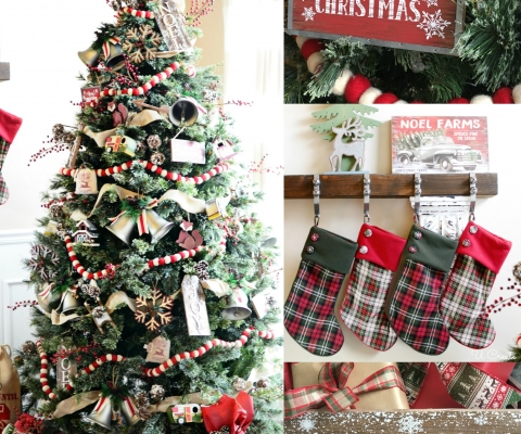a country christmas tree by u create - A Country Christmas